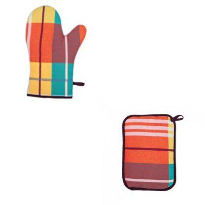 ensemble-gant-et-manique-tissu-madras-2